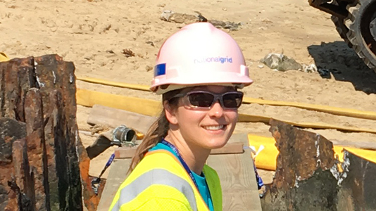 National Grid female engineer Cindy Rom
