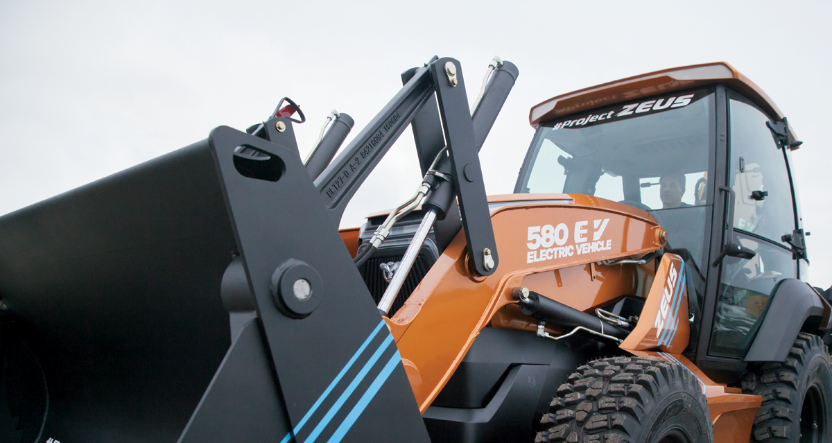 All-electric backhoe loader / digger
