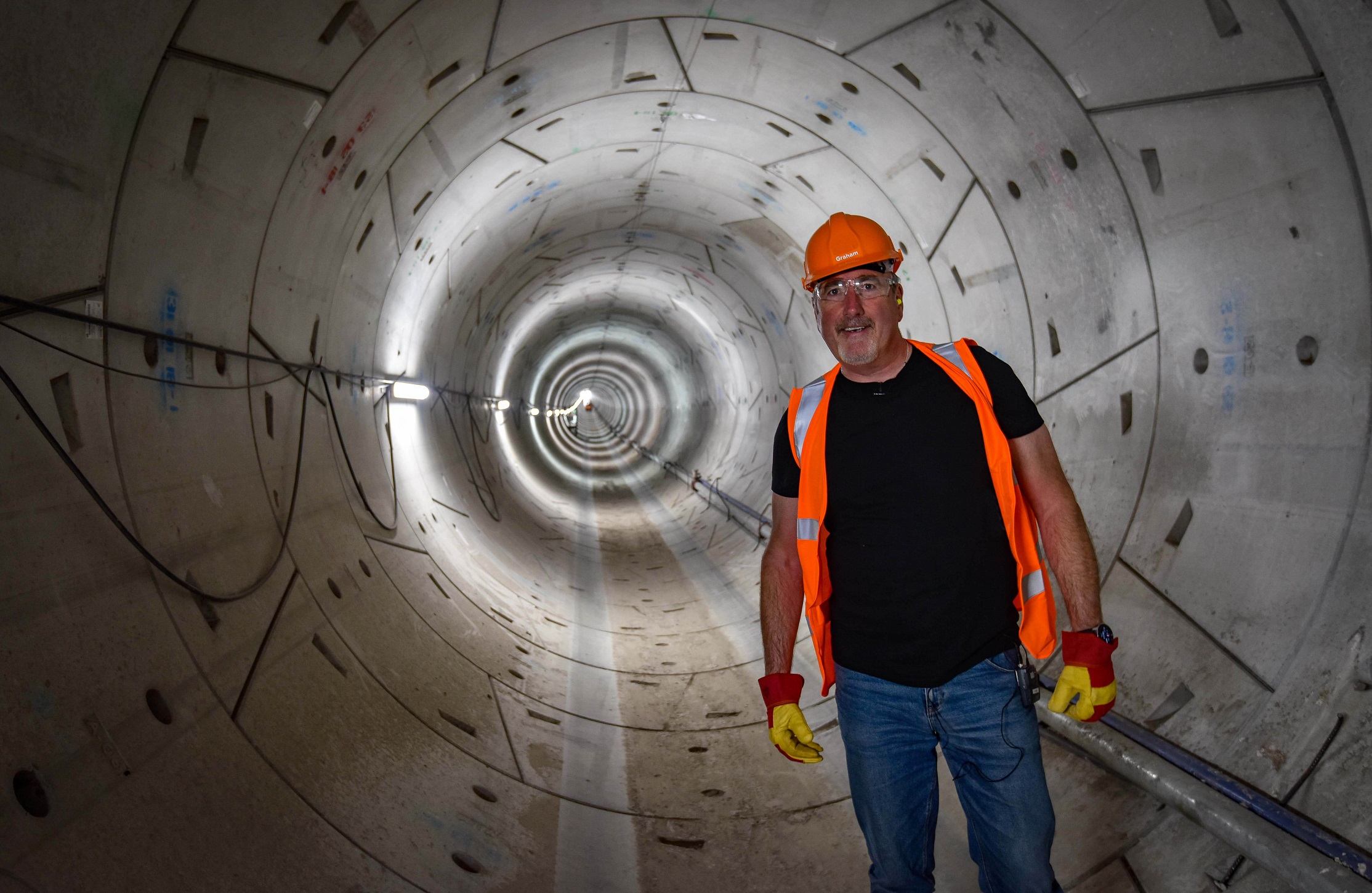 Graham Boanas in National Grid's tunnel under the Humber