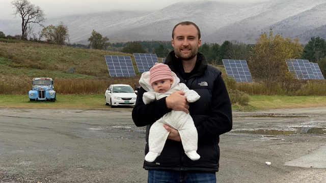 National Grid's Ryan Cote on a solar farm for green collar jobs story about driving electric