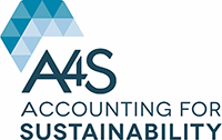 A logo that reads A4S Accounting for Sustainability