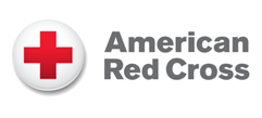 A logo that reads American Red Cross