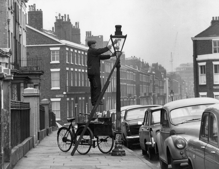 Lamp trimmer from Liverpool in 1968 - archive picture used in the National Grid story 'Time travelling through the history of energy at the National Grid archive'