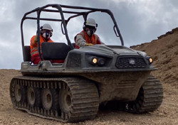 National Grid Gas Pipeline Construction Argocats all-terrain vehicle