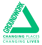 Triangular logo for groundwork