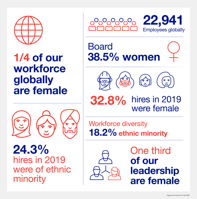 Inclusion and diversity infographic