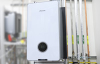 New Worcester hydrogen gas boiler - used in the National Grid story 'The future of home heating in a net zero UK'