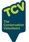 A small logo that reads the conservation volunteers