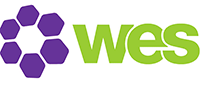 A small logo that reads wes