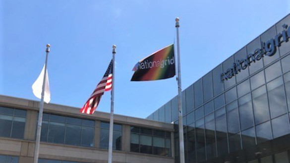 National Grid's Pride flag outside our office in Waltham, US