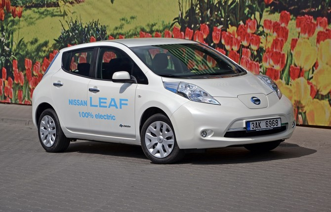 Nisaan Leaf EV for National Grid article