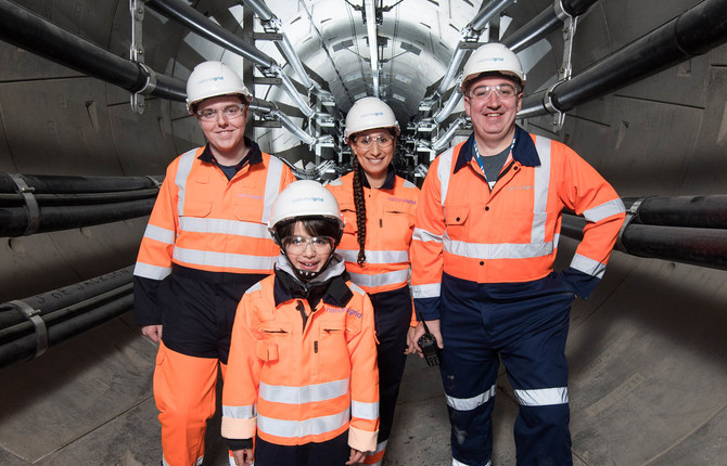 Engineers in National Grid London Power Tunnels