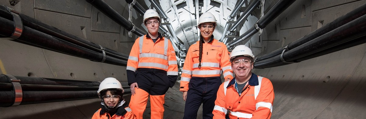 A group of engineers in National Grid's London Power Tunnels