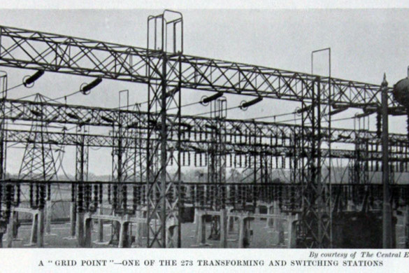 Grid in 1935 for National Grid history timeline