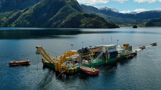 Cable laying in Norway for the National Grid and Statnett North Sea Link (NSL) interconnector